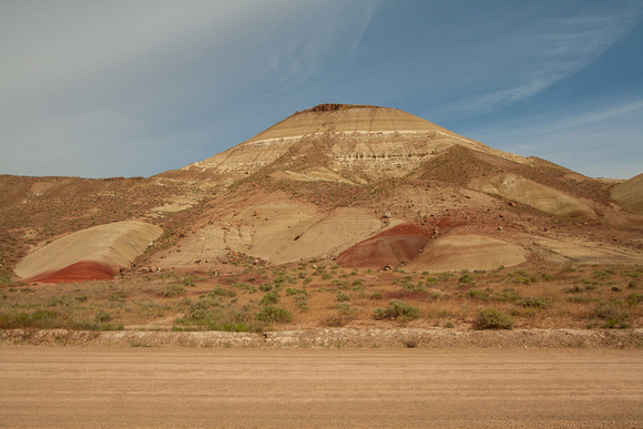 A Painted Butte along the road to the Painted Hills